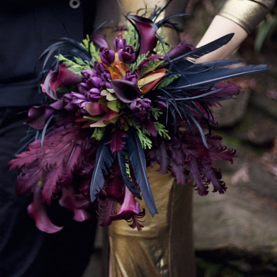 Alternative wedding bouquet.